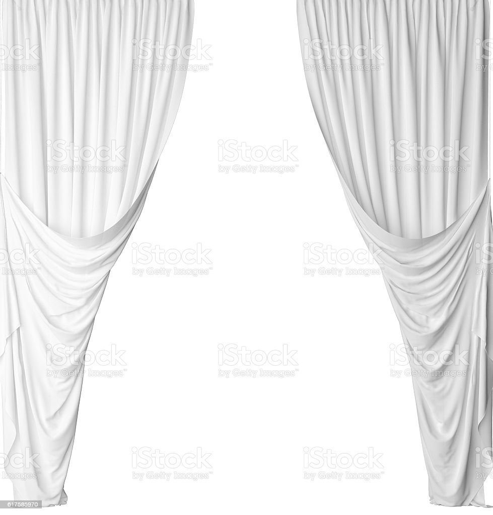 White curtain on a white background – Foto