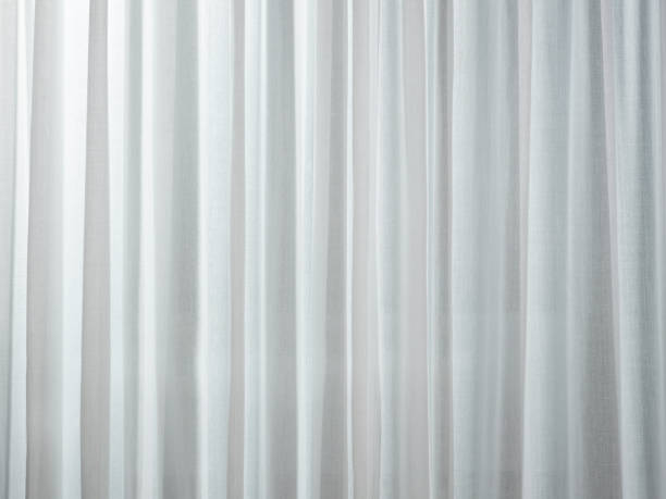 white curtain - curtain stock pictures, royalty-free photos & images
