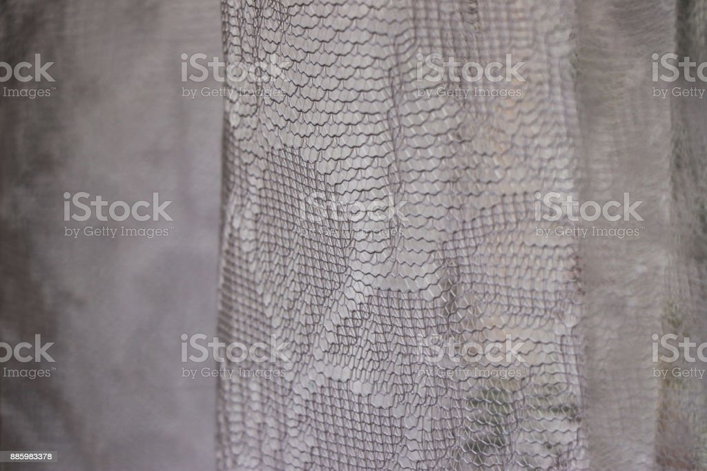White curtains in close up stock photo