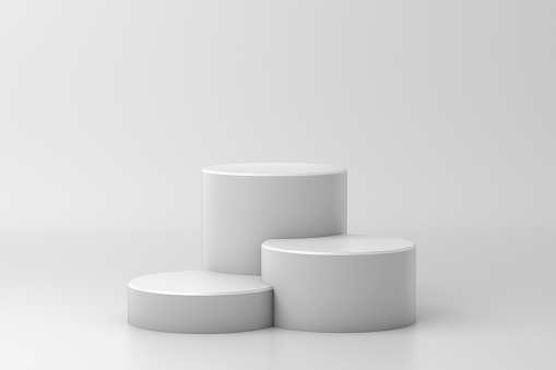 Abstract background, mock up minimal scene geometry shape podium for product display. 3D rendering. Stage pedestal or platform.