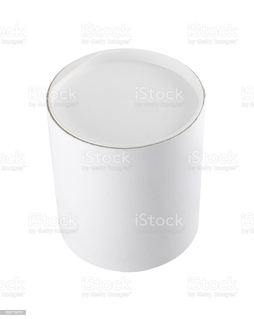 White cylindrical round tub royalty-free stock photo