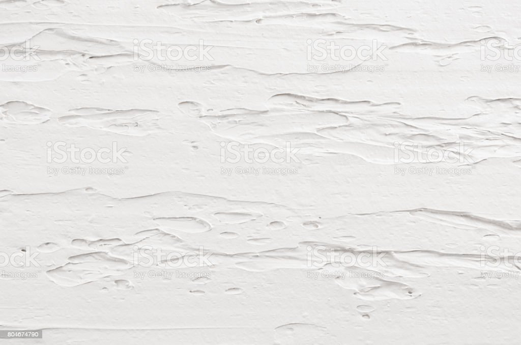 White decorative plaster texture. Light modern abstract background. stock photo