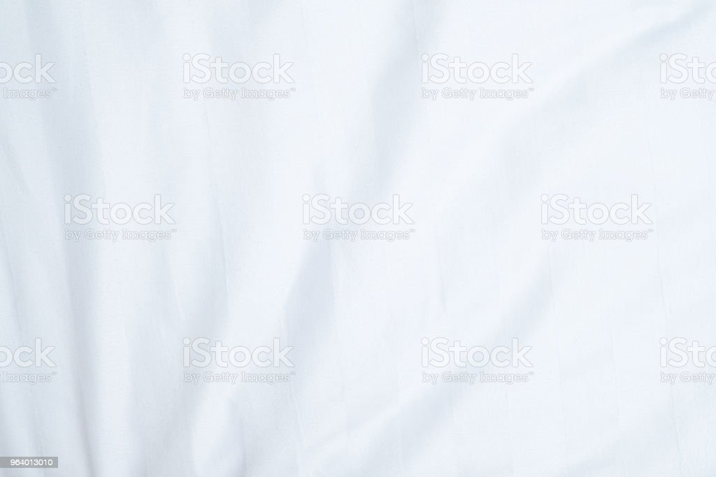 White delicate soft background of fabric or bedding sheet - Royalty-free Backgrounds Stock Photo