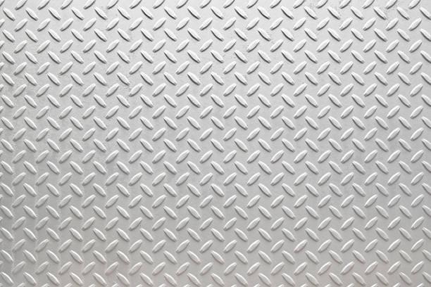 white diamondplate - diamond plate background stock photos and pictures