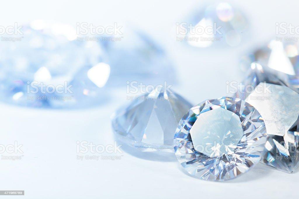 White diamonds on blue background stock photo