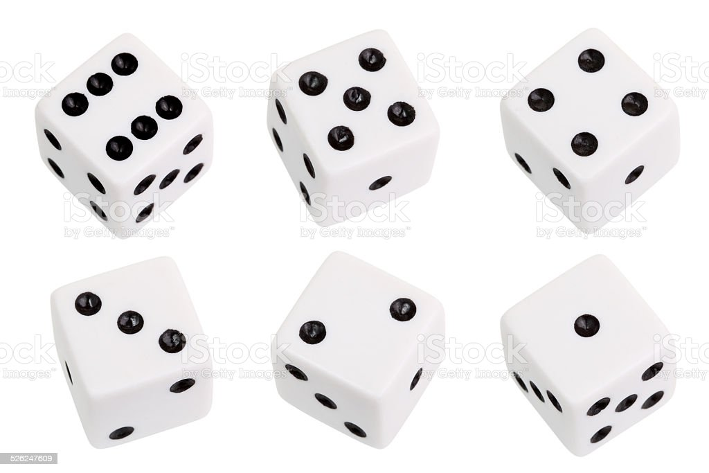 White dice stock photo