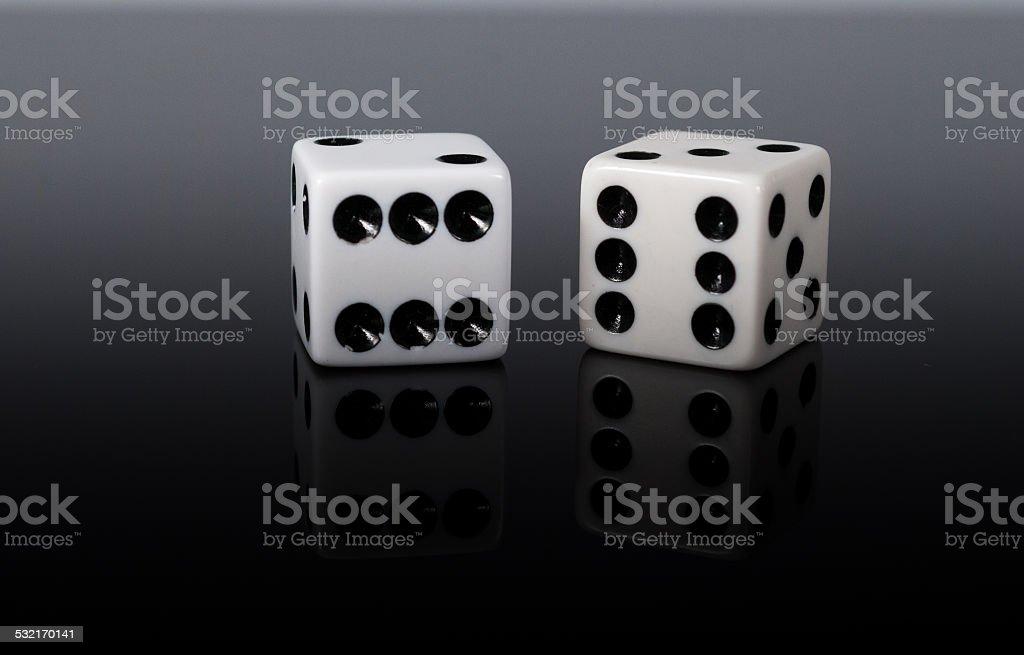 White dice stock photo