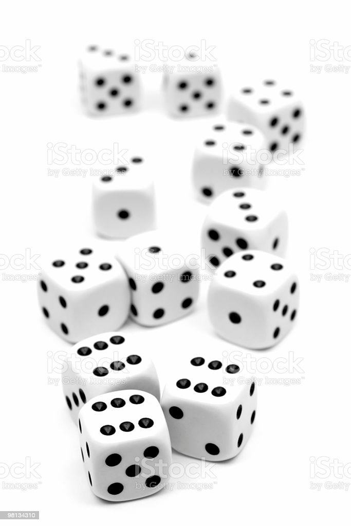White dices royalty-free stock photo