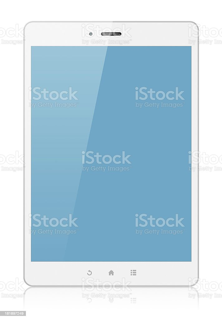 White Digital Tablet PC (Clipping path!) isolated on white background royalty-free stock photo