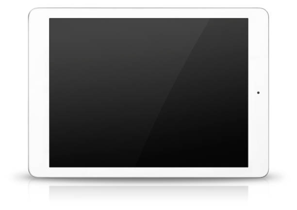 white digital tablet - digital tablet stock photos and pictures