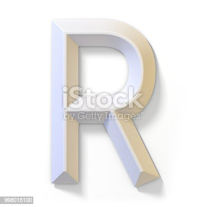 583978558istockphoto White dimensional font LETTER R 3D 998015100
