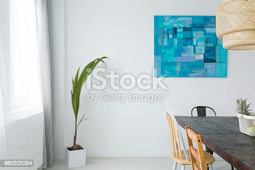 660325278istockphoto White dining room with table 660325264