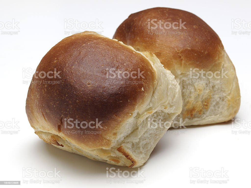 White Dinner Rolls stock photo