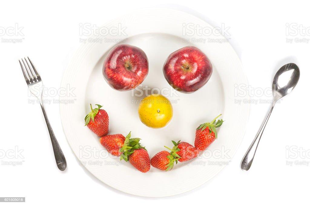 white dish happy photo libre de droits