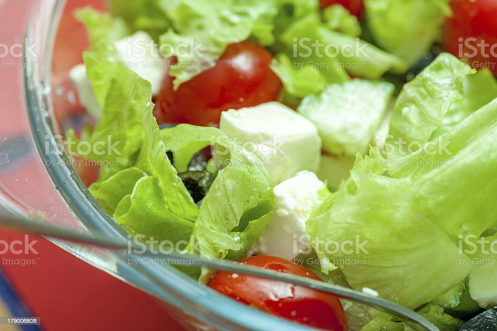 white dish of salad with fresh royalty-free stock photo