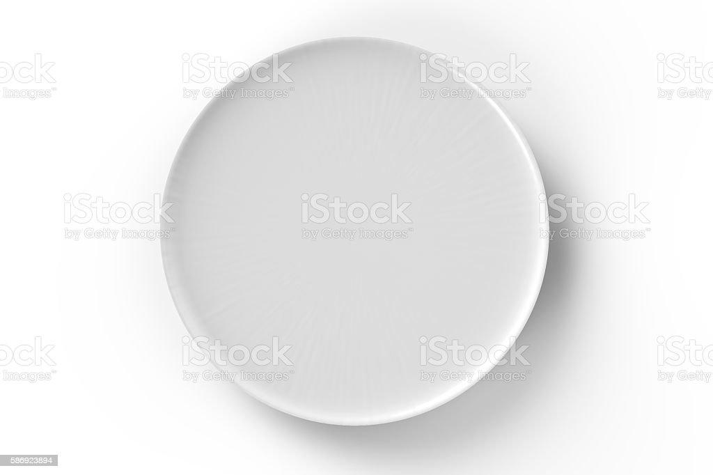 white dish foto