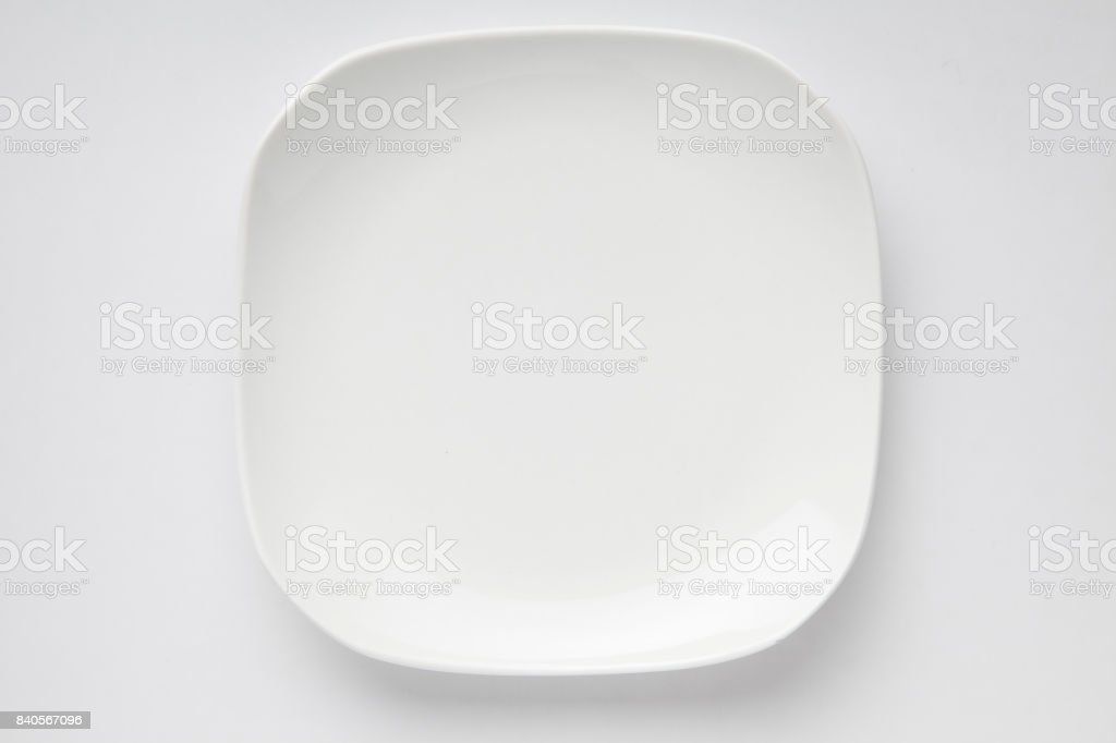 White dish stock photo