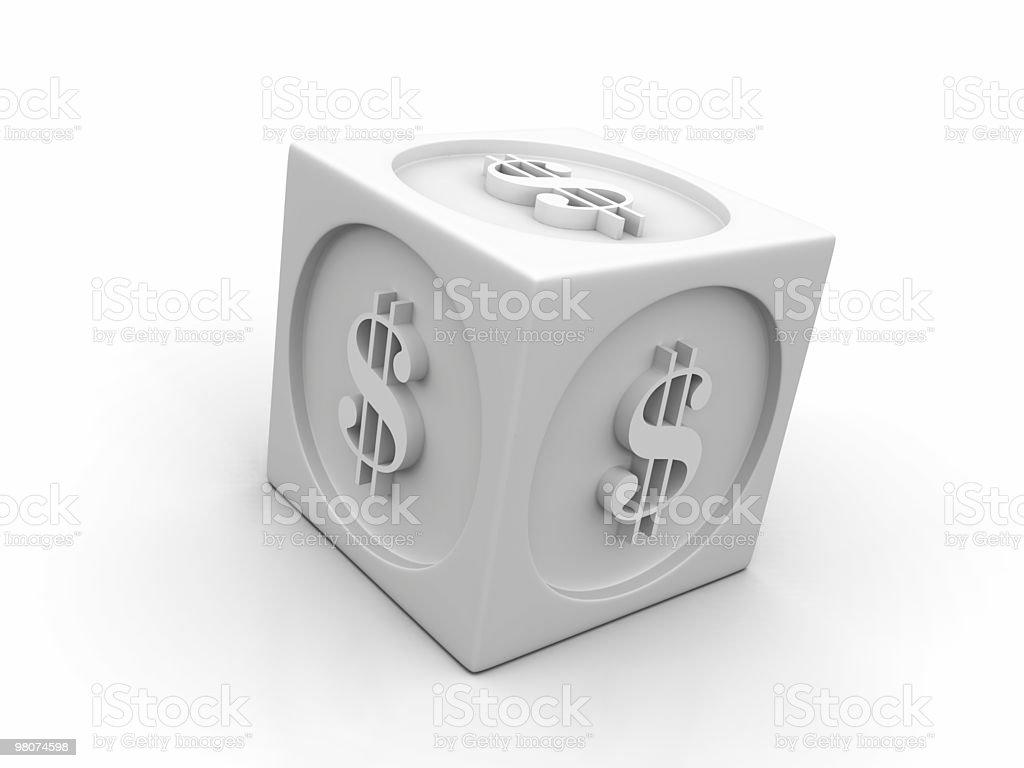 White Dollar Cube royalty-free stock photo