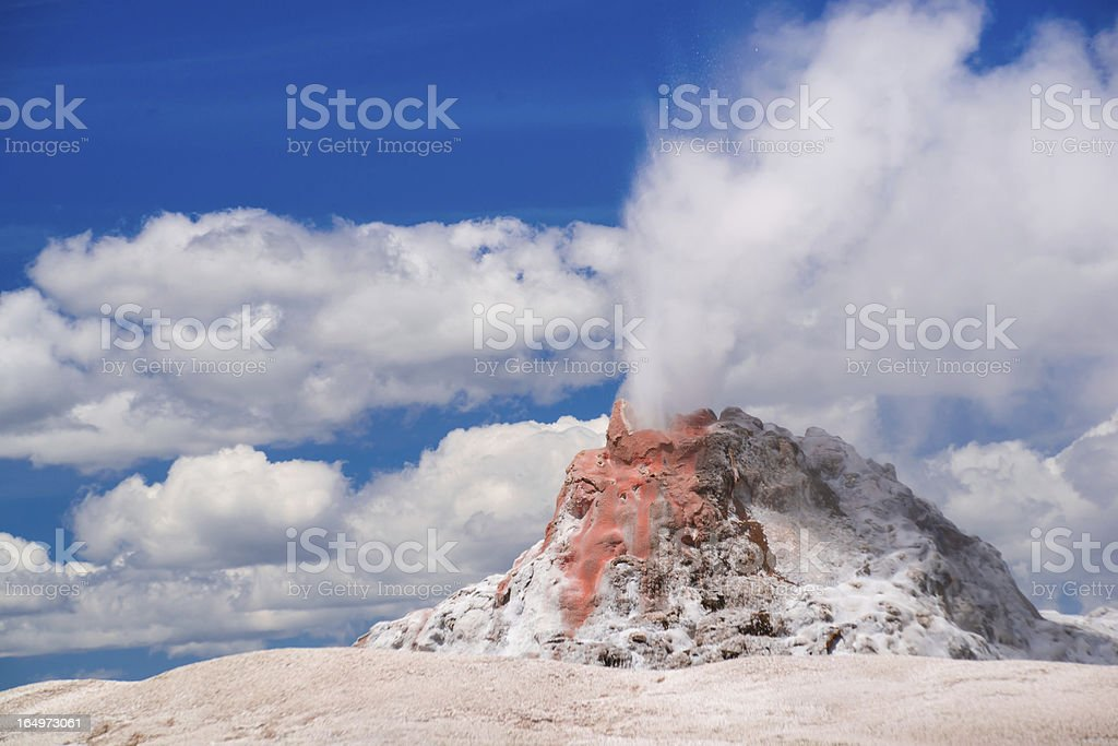 White Dome Geyser royalty-free stock photo