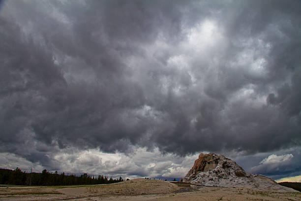 White Dome Geyser stock photo