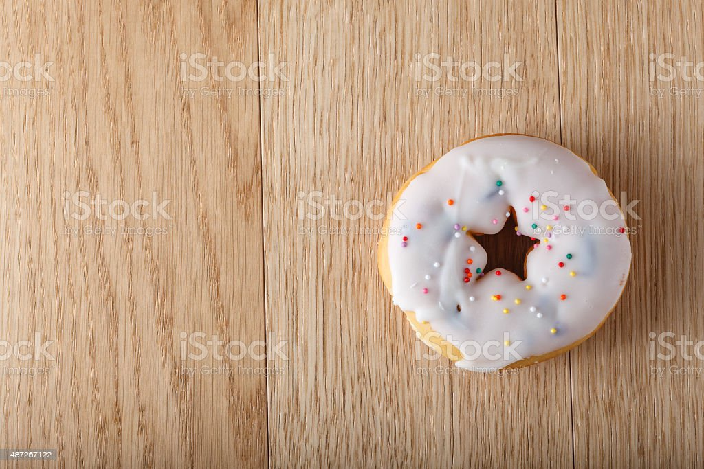 White donut stock photo