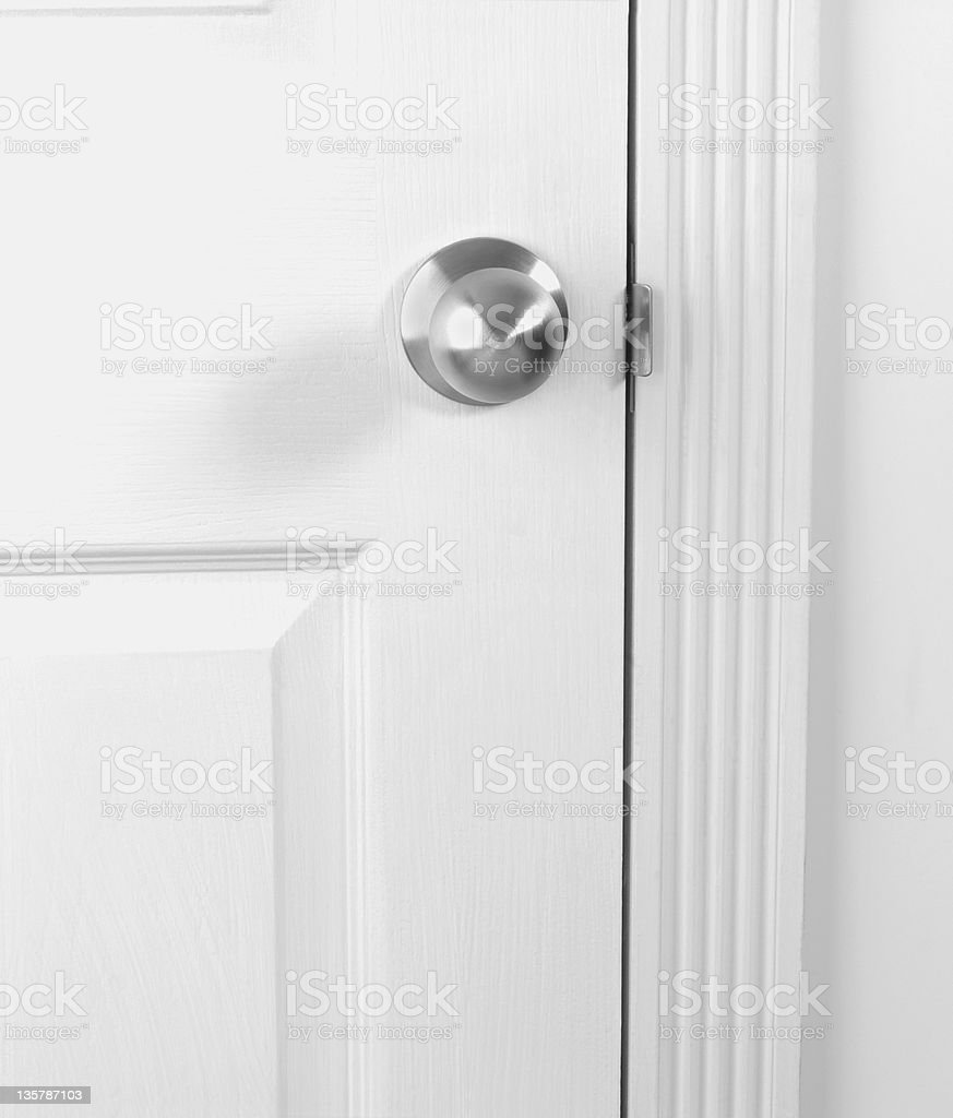 White door with doorknob royalty-free stock photo