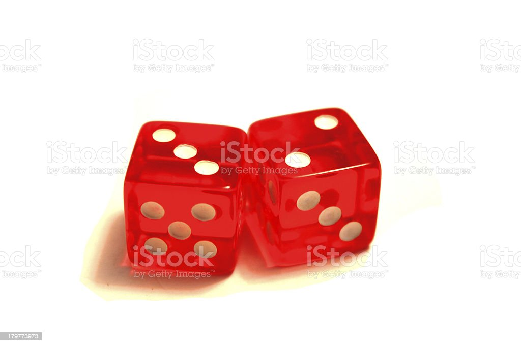 White dotted red dices royalty-free stock photo