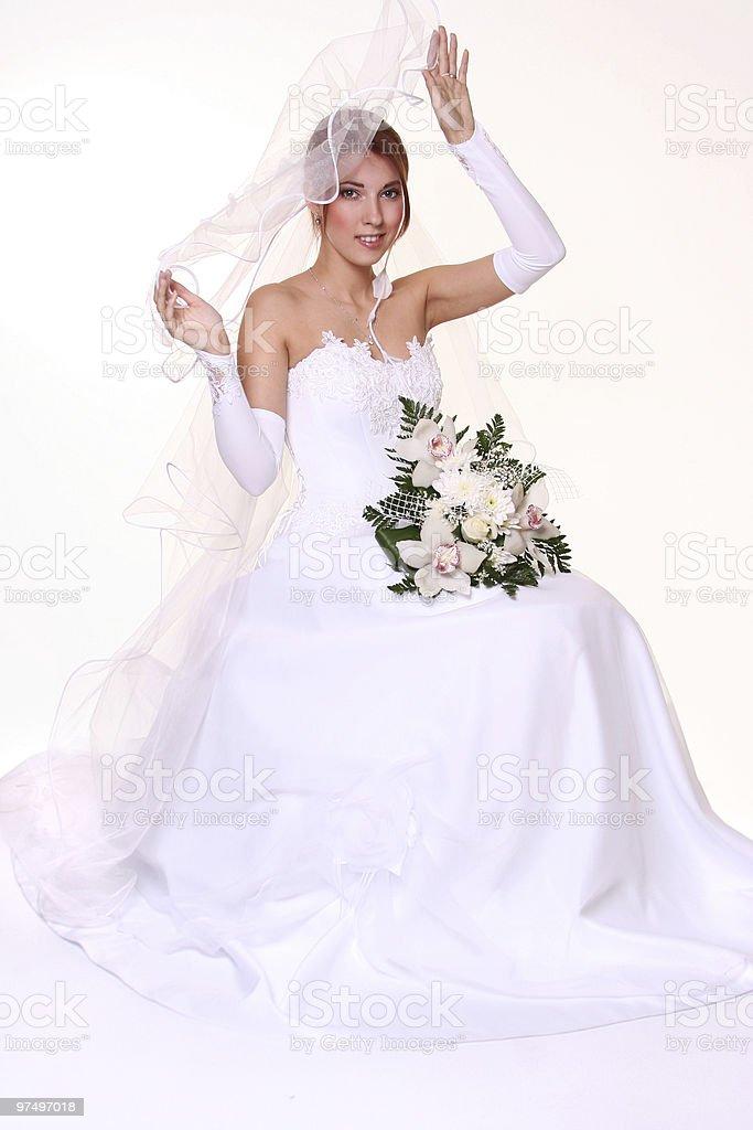 white dress royalty-free stock photo