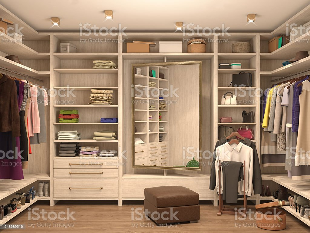 white, dressing room stock photo