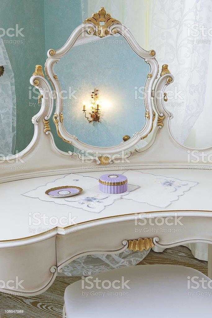 white dressing table royalty-free stock photo