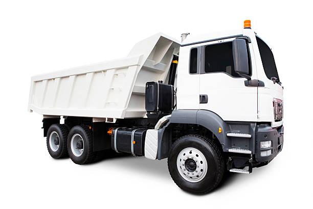Blanco Camión de descarga - foto de stock