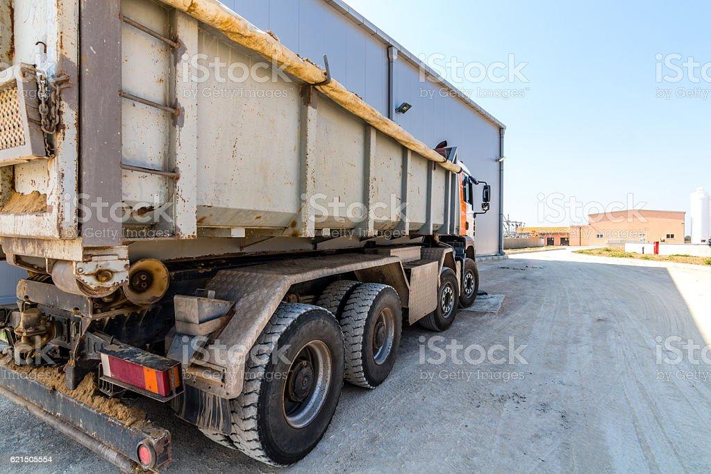 Blanc Camion à benne basculante photo libre de droits