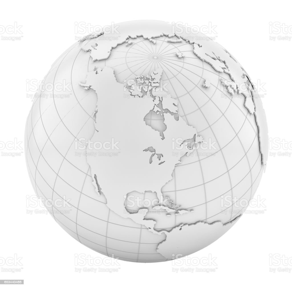 White Earth Globe stock photo