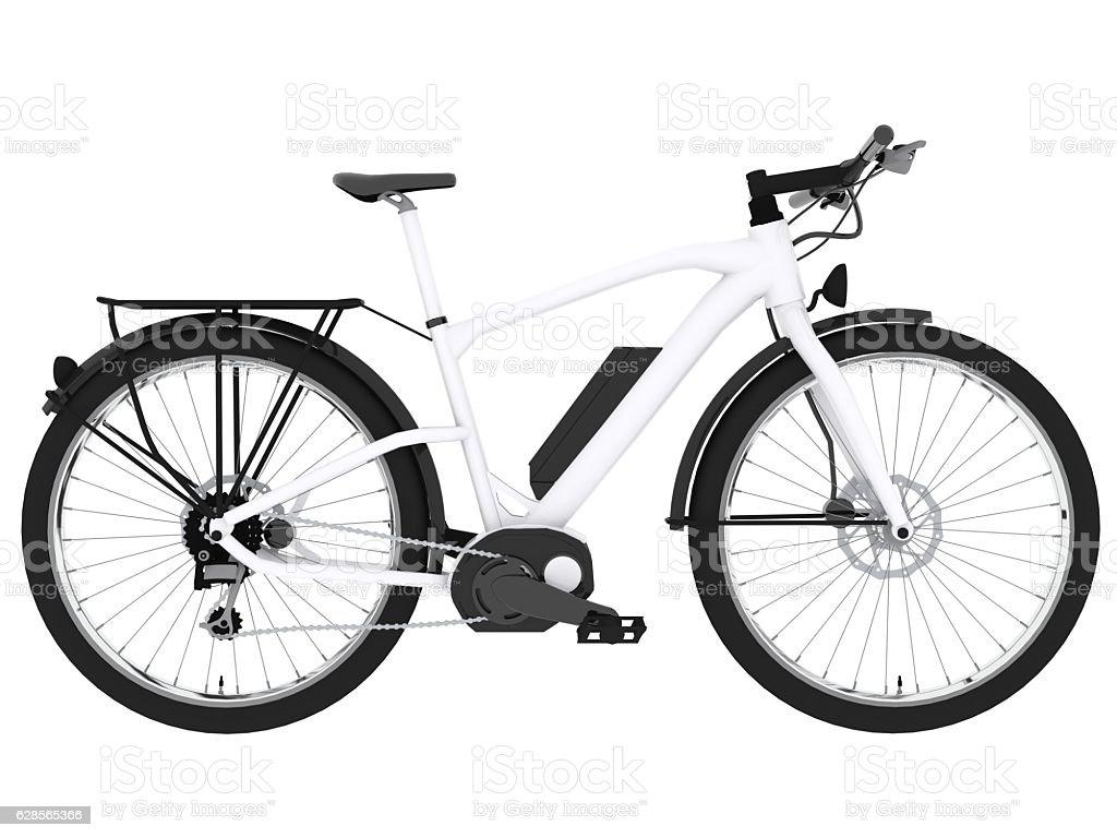 e-bike blanco - foto de stock