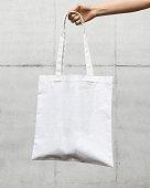 White Eco Bag. fiber pouch.
