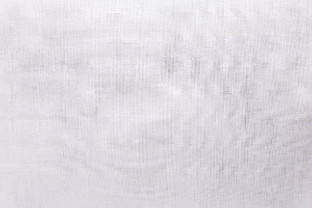 white ecology fabric texture background. blank canvas textile material or calico cloth. - lona têxtil imagens e fotografias de stock
