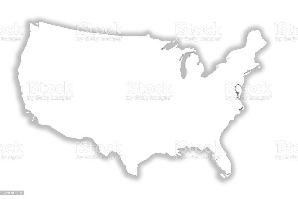 Mapa de eeuu blanco  - foto de stock