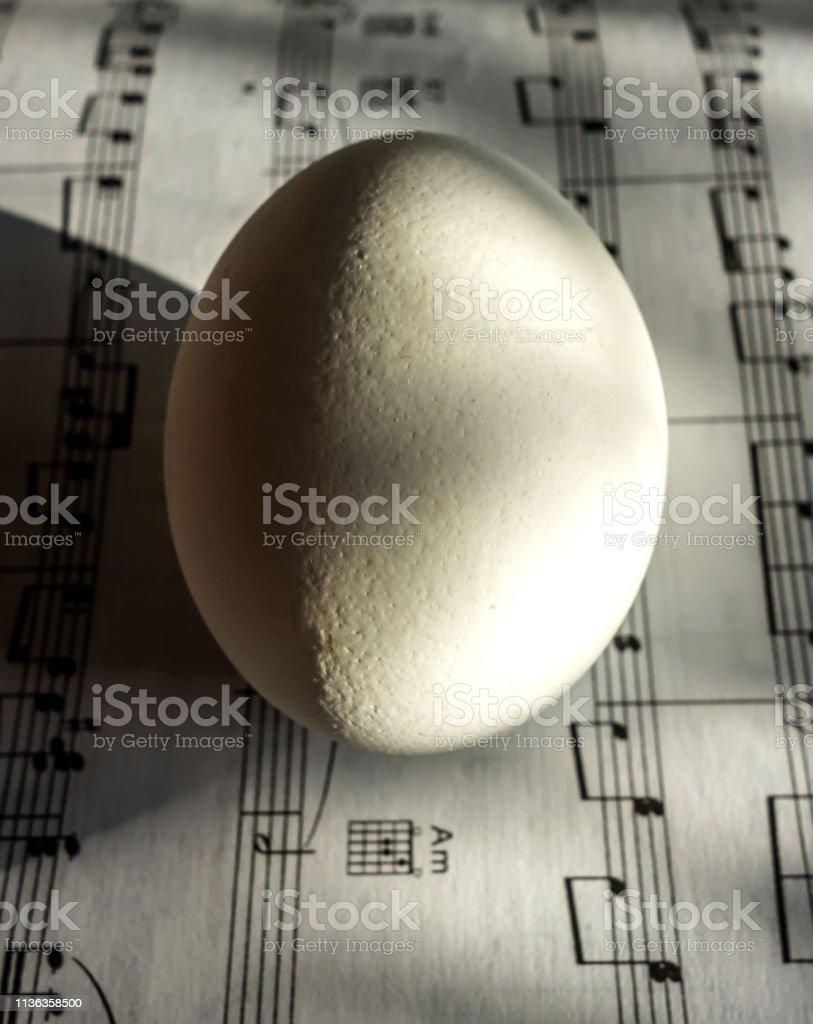 Яйцо и ноты