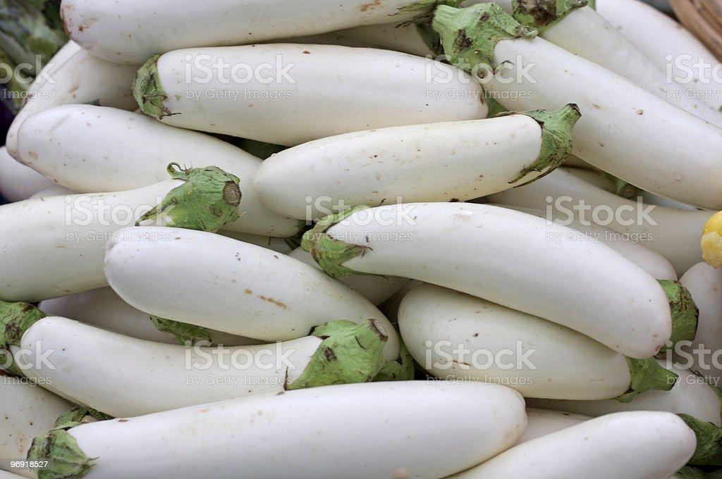 White Eggplant at the Market stock photo