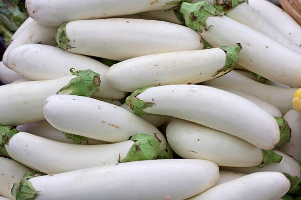 White Eggplant at the Market