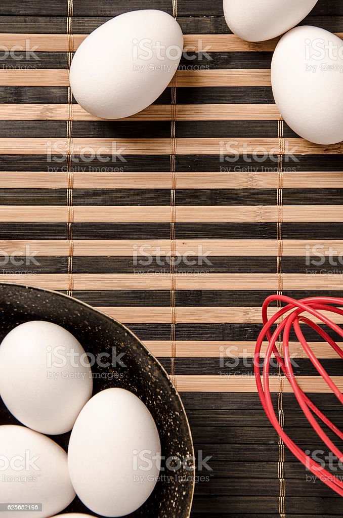 White eggs in the bowl stock photo