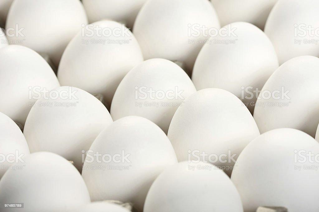 White eggs royalty-free stock photo