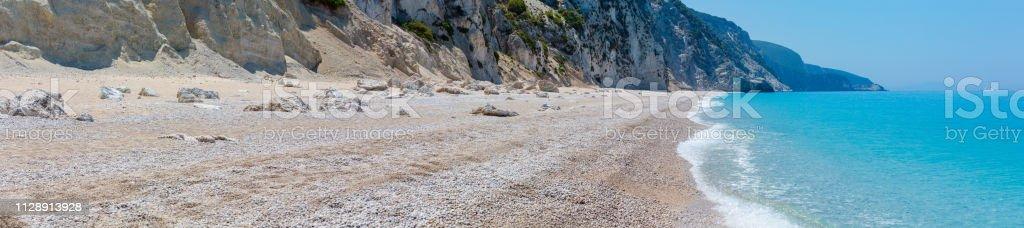 Weiße Egremni Strand, Lefkada, Griechenland – Foto