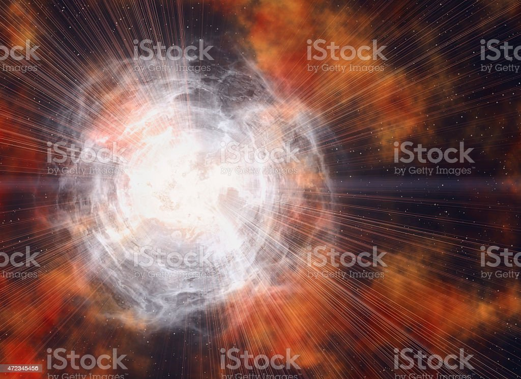 white electrical flash in cosmos sky backgrounds stock photo