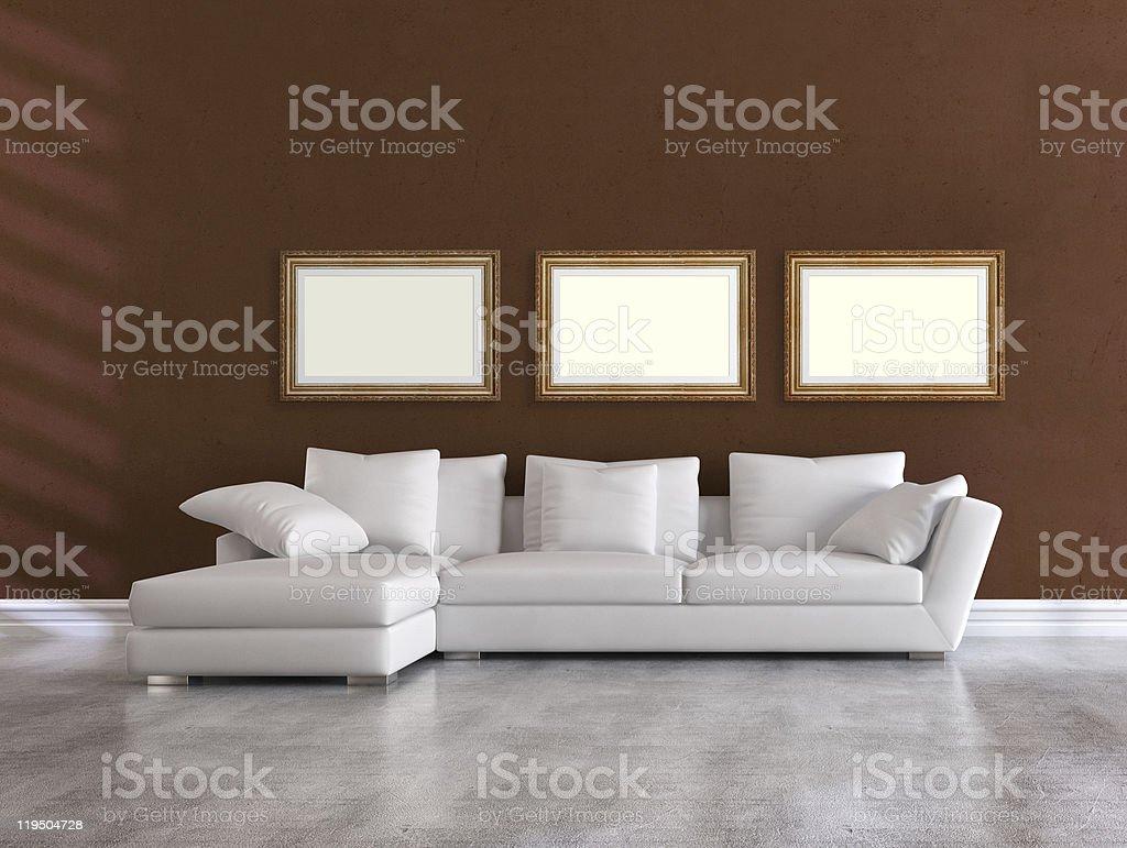 white elegant couch royalty-free stock photo