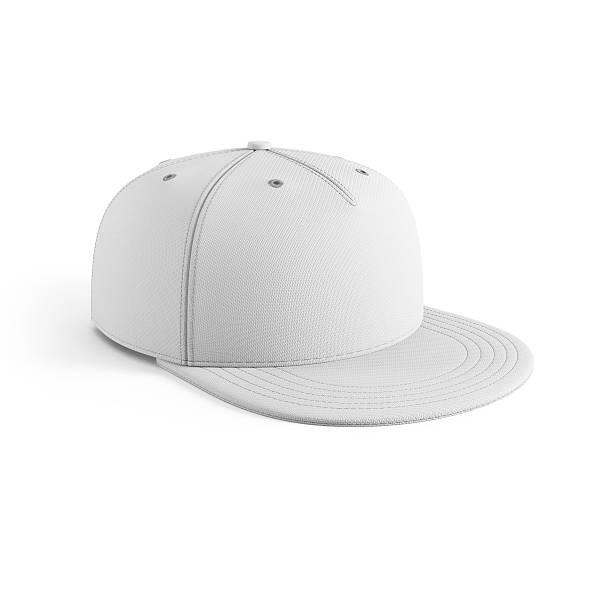 white empty baseball cap stock photo