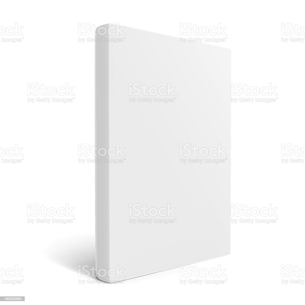 White empty book stock photo