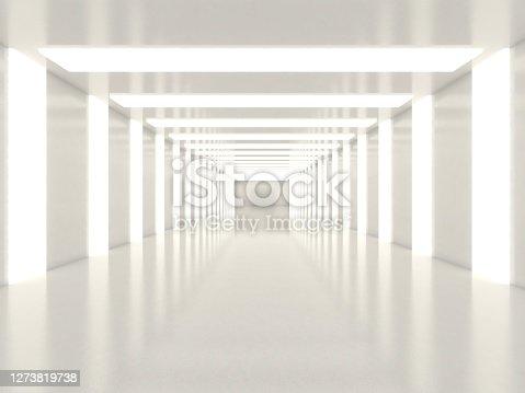 White empty bright room