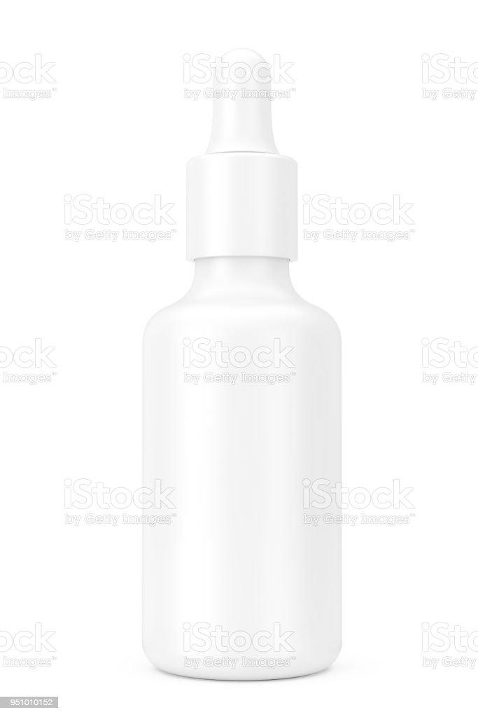 White Empty Mockup Eye Dropper Bottle 3d Rendering Stock