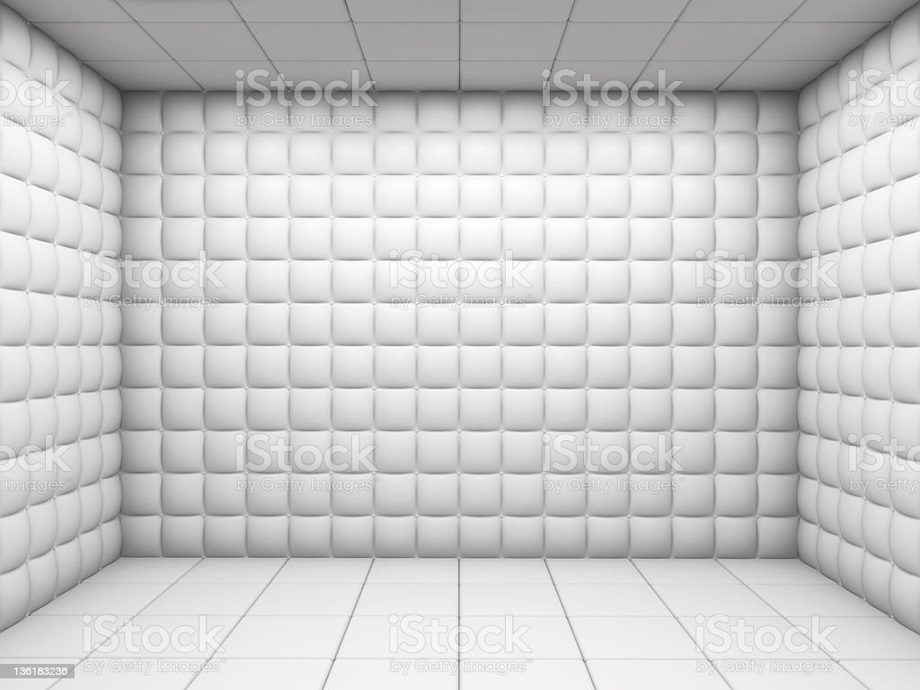 White Empty Padded Room Stock Photo Amp More Pictures Of